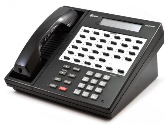 AT&T MLS-34D Black 32-Button Analog Display Speakerphone - Grade A
