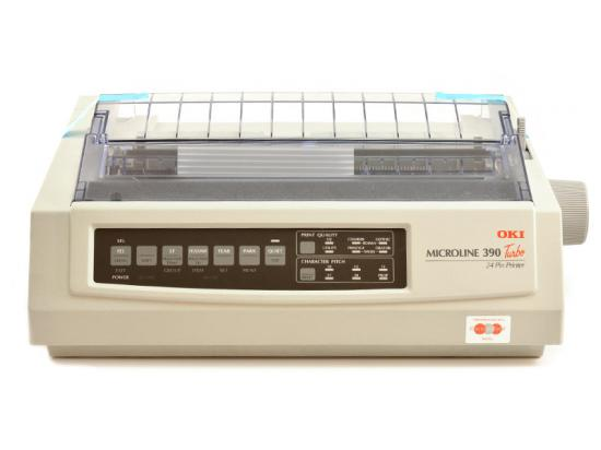 Okidata Microline 390 Turbo Parallel 24-Pin Dot Matrix Impact Printer (62411901) - White