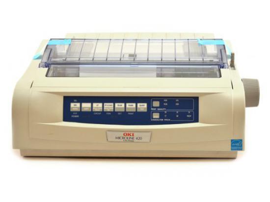 Okidata Microline 420 Parallel USB Printer - Beige (62418701) D22200A