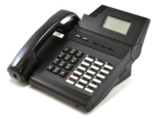 Executone Isoetec Medley Model 64 Black Display Telephone (84600)