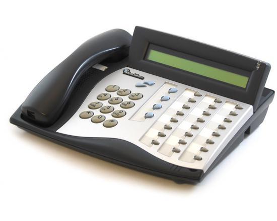 Tadiran Coral Flexset 280D Charcoal Display Phone (72440163185) - Silver Face