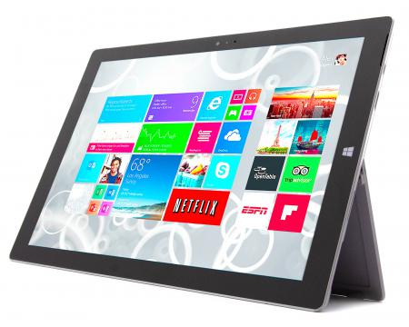 "Microsoft Surface Pro 3 12"" Tablet Intel Core i5 (4300U) 1.9GHz 8GB DDR3 256GB HDD - Grade B"