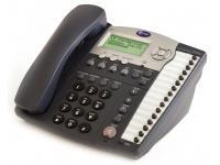 AT&T 974 16-Button Black Analog Display Speakerphone - Grade B