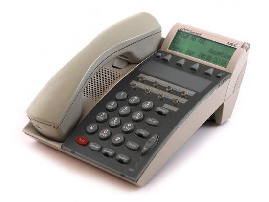 NEC Dterm Series E DTP-8D-1 8-Button White Display Speakerphone (590020)