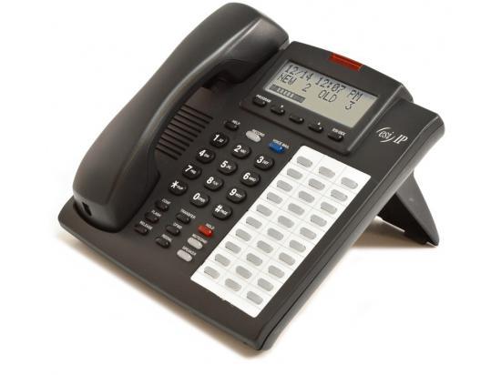 ESI Communications 48-Key H IPFP Charcoal Phone w/ Headset Jack