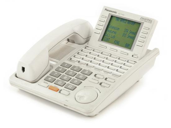 "Panasonic Digital Super Hybrid KX-T7456-W White 6-Line Display Speakerphone ""Grade B"""