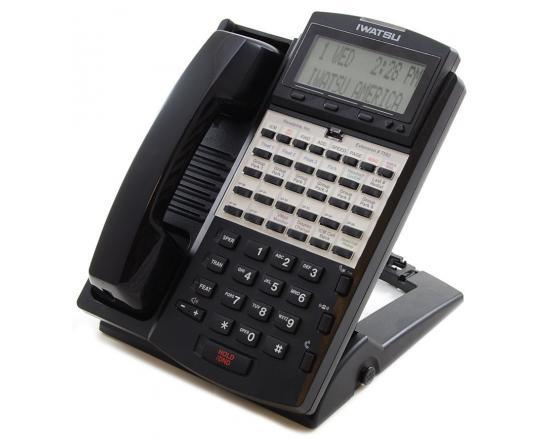 Iwatsu ADIX IX-12IPKTD-E 24-Button Black IP Display Speakerphone - Grade A