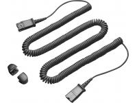 Plantronics Cable Extension 10' Coil QD to QD
