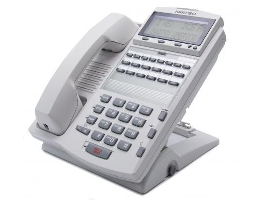 Iwatsu Adix IX-12IPKTD-E 12-Button White IP Display Phone (104291)