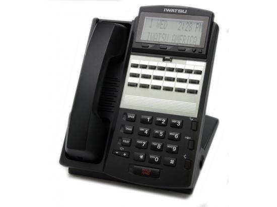 """Iwatsu Adix IX-12IPKTD-E  Black 12-Button IP Display Phone (104290) """"Grade B"""""""