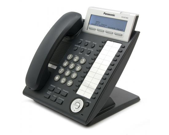 Panasonic KX-DT343X-B Charcoal 24-Button 3-Line Digital Display Speakerphone