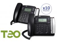 Teo 10 User Cloud UC Hosted Small Business Package w/Free 4104 IP Phones