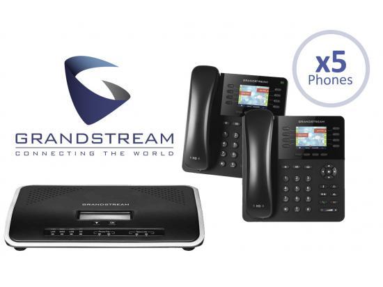 Grandstream UCM6204 IP PBX 4-Line Office System Package w/5 Phones