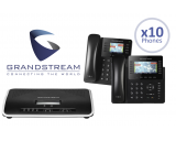 Grandstream UCM6204 IP PBX 4-Line Office System Package w/10 Phones