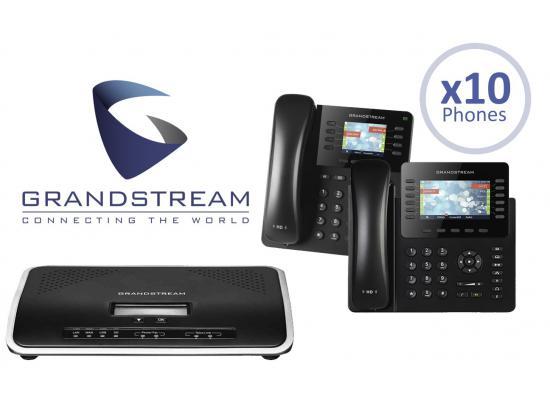 Grandstream UCM6204 IP PBX 4-Line Office System Package w/10 Phones