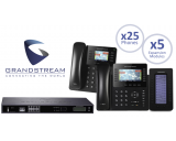 Grandstream UCM6208 IP PBX 8-Line Office System Package w/25 Phones