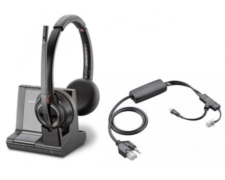 Plantronics Savi 8220 Office DECT Headset w/Polycom EHS Cable