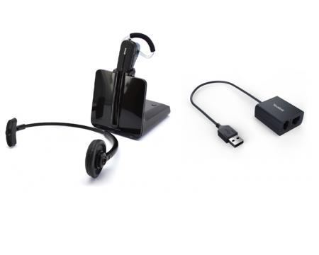 Plantronics CS540 DECT Headset w/Yealink EHS40 USB Cable