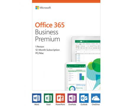 Microsoft Office 365 Business Premium Single User 12-Month Subscription - Retail Package