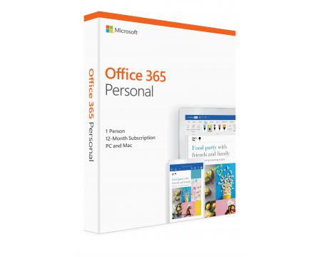 Microsoft Office 365 Personal Single User 12-Month Subscription - Retail Package