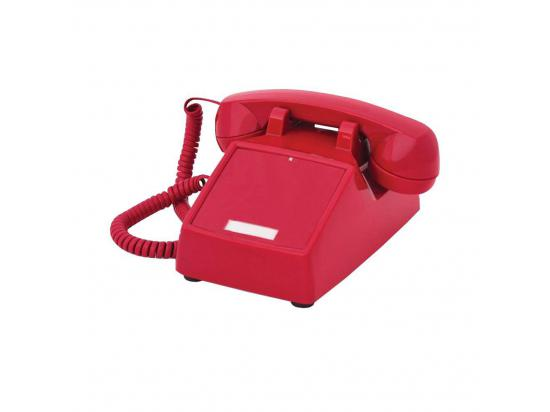 Cortelco 2500 No Dial Red Desk Phone