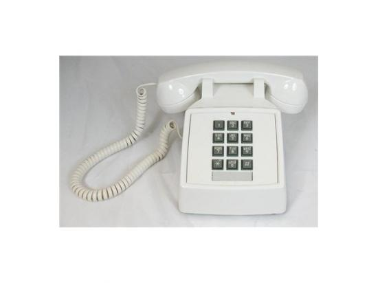 Cortelco 2500 Basic White Desk Phone w/ Volume Control - New