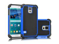 Tekcoo Navy Blue Shock Absorbing Hybrid Impact Defender Galaxy S5 Case