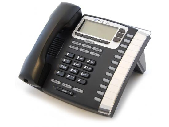 Paetec 9212P 12-Button Black IP Display Speakerphone - Grade B