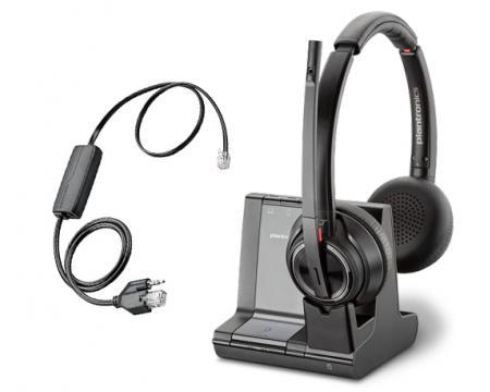Plantronics Savi 8220 Office DECT Headset w/Grandstream EHS Cable