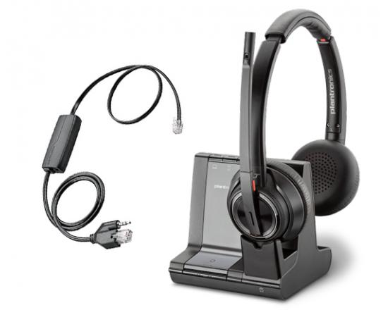 Plantronics Savi 8220 Office DECT Headset w/Grandstream EHS Cable