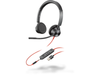 Plantronics Poly Blackwire 3325 USB-A Stereo Headset