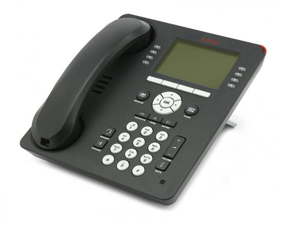 Avaya 9608 24-Button Black IP Display Speakerphone W/ Text Keys - Grade B