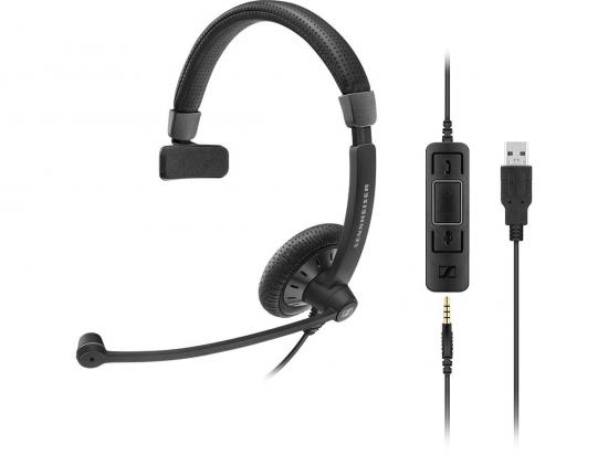 SENNHEISER SC 45 UC Mono USB-A 3.5mm Jack MUSBO Headset - Microsoft