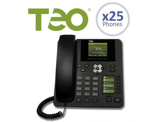 Teo 25 User Cloud UC Hosted SMB Business Package w/9100 Series IP Phones