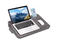 LabGear Portable Laptop Desk w/ Built-in Tablet Holder and Bolster