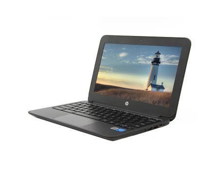 """HP Chromebook 11 G4 11.6"""" Laptop Intel Celeron (N2840) 2.16GHz 4GB DDR3 16GB SSD - Black"""