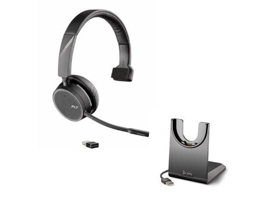 Plantronics Voyager 4210 Uc Usb Bluetooth Headset W Stand 212740 01