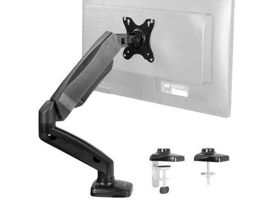 VIVO Pneumatic Arm Single VESA Monitor Desk Mount