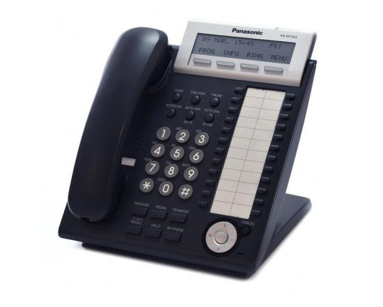 Panasonic KX-NT343-B Black Backlit Display VoIP Phone