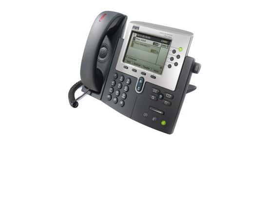 Cisco CP-7961G Charcoal IP Display Speakerphone - Grade B
