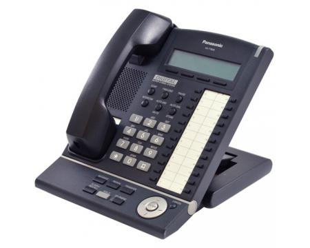 Panasonic KX-T7633-B 24 Button Digital Display Phone Charcoal