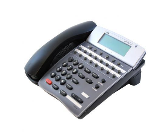 NEC DTR-16D-2(BK)Tel Black Display Phone (780048)