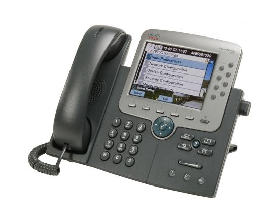Cisco Unified CP-7975G Charcoal Gigabit IP Color Display Speakerphone - Grade A