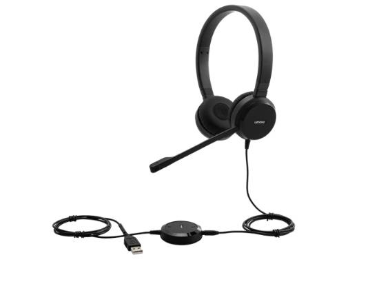 Lenovo Pro Wired USB-A Stereo VoIP Headset