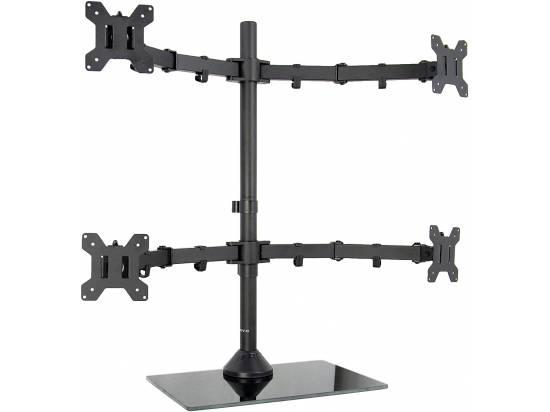 VIVO Adjustable Heavy Mount Quad Monitor Desk Stand