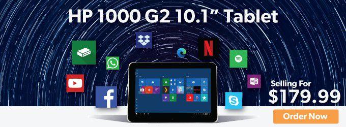 """HP1000 G2 10.1"""" Tablet. $179.99"""