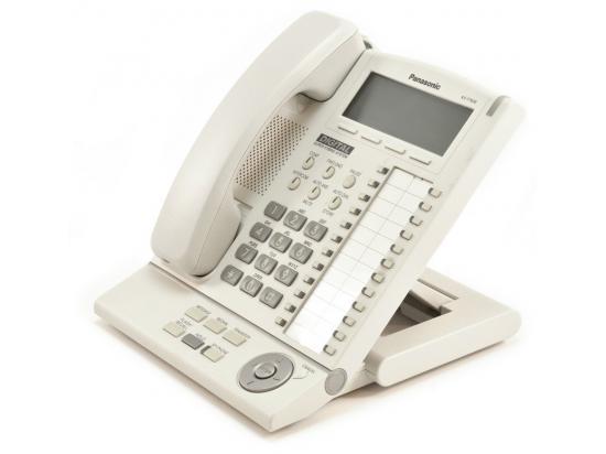 Panasonic KX-T7636-W White 24-Button Backlit Display Speakerphone