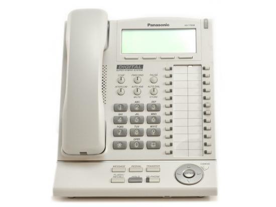 Panasonic KX-T7636-W 24-Button 6-Line Backlit LCD Display Speakerphone