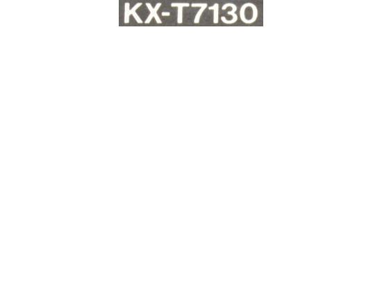"Panasonic KX-T7130 Black LCD Display Speakerphone ""Grade B"""