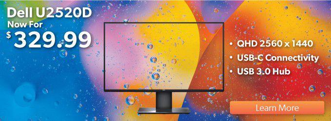 Dell U2520D $329.99